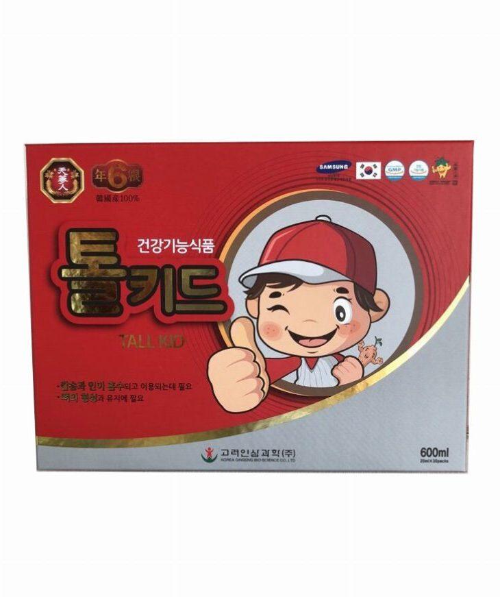 Nước hồng sâm trẻ em tall kid 30 gói x 20ml - HDP Shop Sâm Nấm Nhập Khẩu